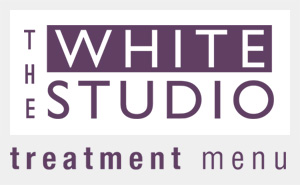 White Studio treatment menu